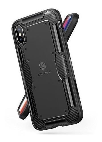 Funda iPhone X - Anker Karapax - Shield - Fibra De Carbono