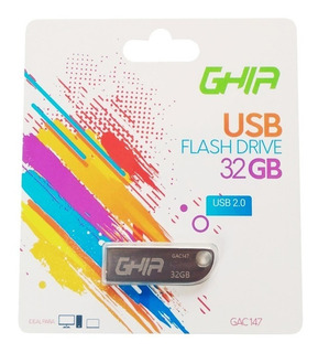 Memoria Usb Ghia 32gb Metal Plateado Android Pc Y Mac. Tecpc