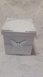 Cajas De Fibrofacil Con Porcelana Fria Shabby-vintage