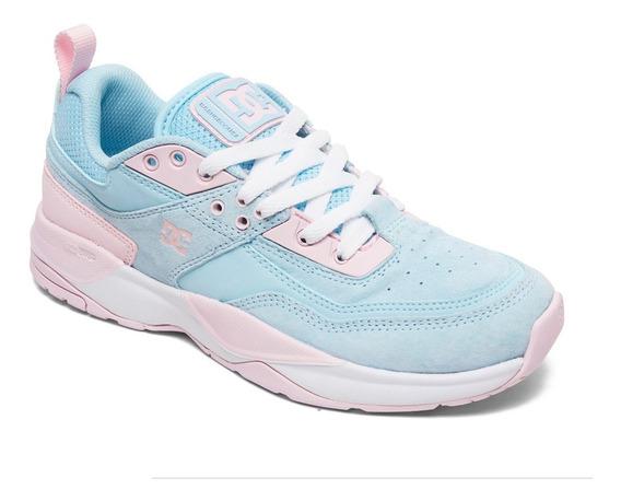 Tenis Premium Para Dama E Tribeka Dc Shoes Azul Rosa