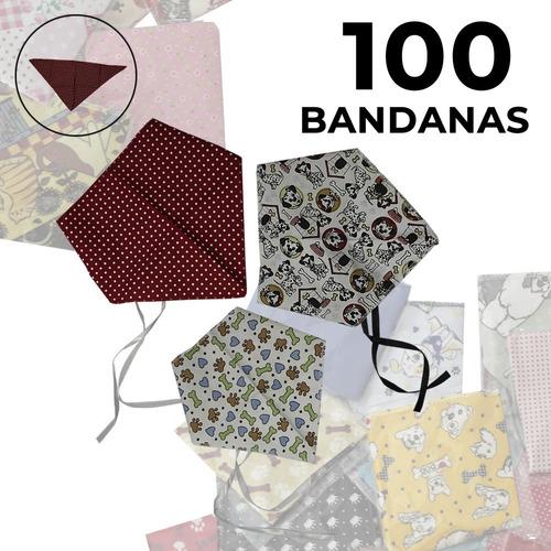 100 Bandanas Pet  - Lindas Estampas - Com Envio Imediato.