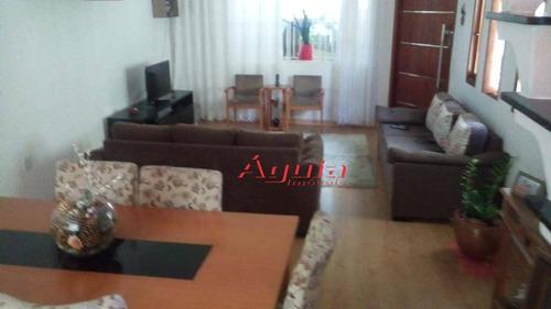 Sobrado Com 3 Dormitórios À Venda, 206 M² Por R$ 656.000,00 - Jardim Santo Antônio - Santo André/sp - So1073