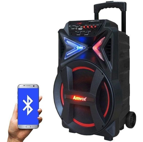 Caixa Som Amplificado Bluetooth 290w Portátil Led Falante 12