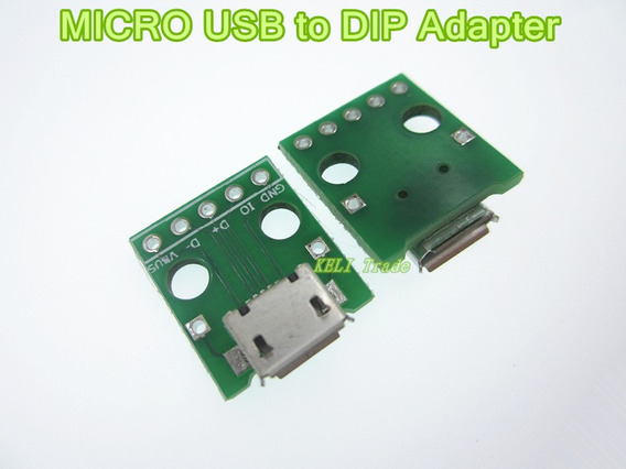 Módulo Usb Micro 5pin Usb Femea Adaptador