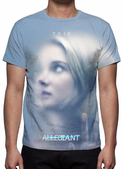 Camisa, Camiseta Filme A Série Divergente Convergente 2016