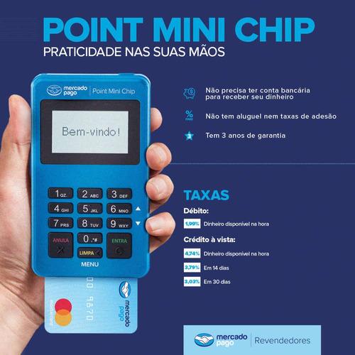 Point Mini Chip, Maquina Mercado Pago Plano De Dados E Wi-fi