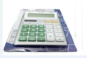 Calculadora Eletrônica Color 12 Dígitos 9x13cm Yin