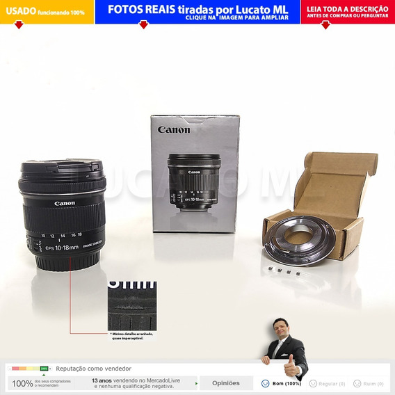 Lente Canon Efs 10-18mm Is Stm + Conversor Full Frame +cx 1b