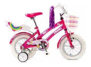 Bicicleta Olmo Rodado 12 Niña Tiny Pets Rueditas