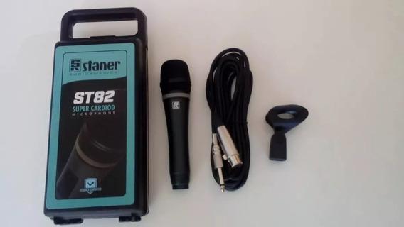Microfone Super Cardióide Com Fio Staner St-82 -profissional