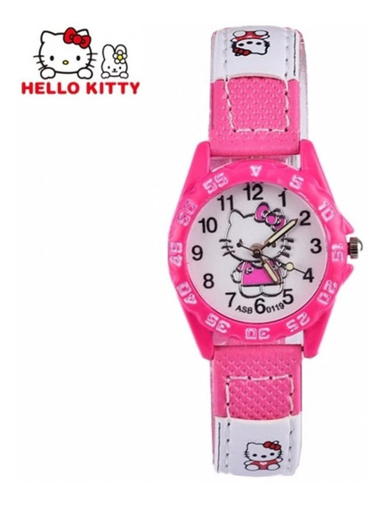 Relógio De Pulso Hello Kitty Infantil Meninas Frete Grátis