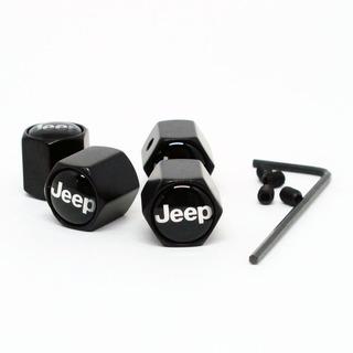 Jogo 4 Tampas Antifurto Válvula Jeep Renegade Willys Compass