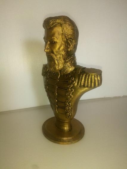 Busto General Martín Miguel De Güemes 17cm De Alto