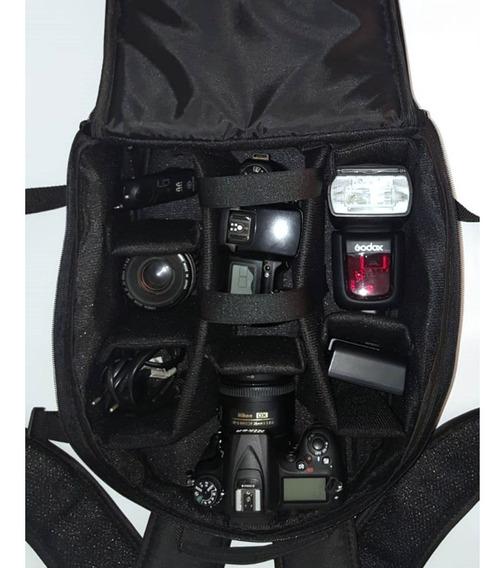 Mochila Fotográfica P/ Nikon D5600 D3400 D610 D7500 D850 D90