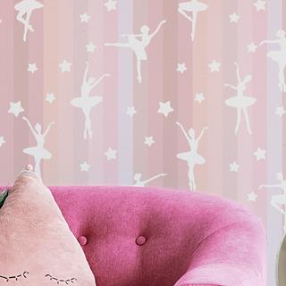 Papel De Parede Bailarina Menina Rosa Infantil Adesivos 3m