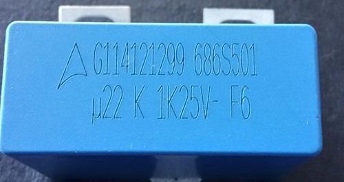 1x Capacitor Filme Epcos 1250v 10% / 0.22uf / 220nf / 220k