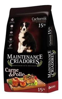 Maintenance Criadores Perro Cachorro X 15 Kg Carne Y Pollo