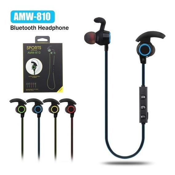 Fone De Ouvido Headphone Bluetooth Sport Sem Fio Amw-810
