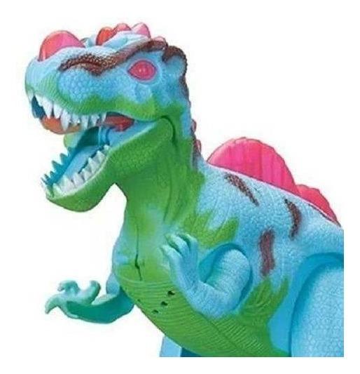 Dinossauro De Brinquedo Anda Emite Som E Luz Dino Jurássico