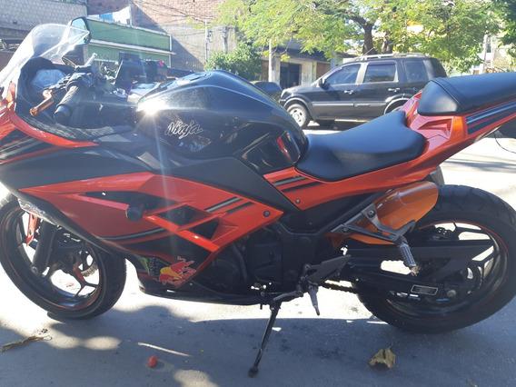 Ninja 300r Special Edition, 2014, Laranja. Único Dono 7700km