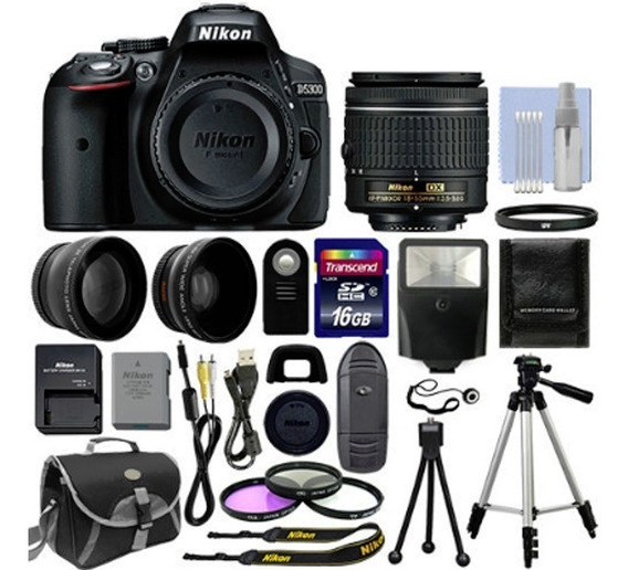 Kit Fotografico Nikon D5300 Slr 18-55mm + 18 Artículos