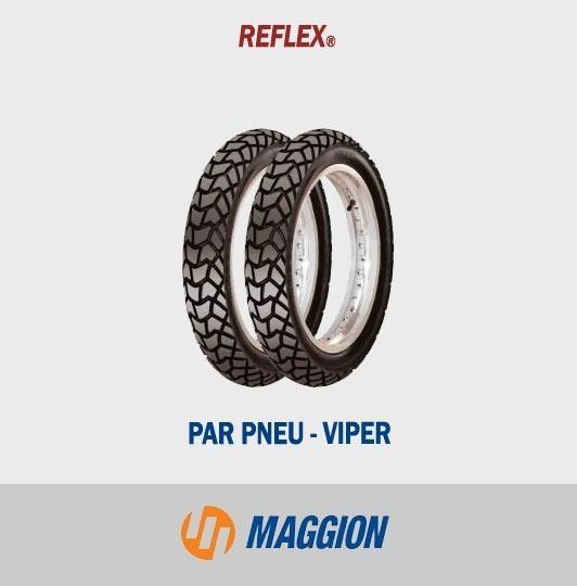 Par De Pneus Bros 125/150 Viper Maggiom
