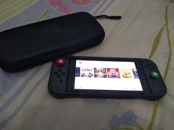 Nintendo Switch + 10 Jogos Originais + Cartão Sd 120 Gigas