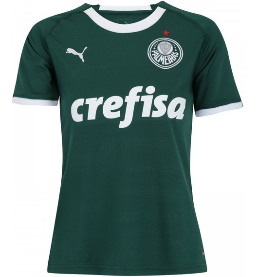 Camiseta Palmeiras Oficial Feminina Personalizada