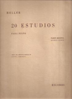Heller 20 Estudios Para Piano Parte 2 - Quinto Curso