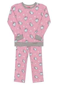 Pijama Manga Longa Bebê Hello Kitty