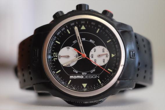 Relógio Momo Design Md-086, St. Steel, Cronógrafo, 41 Mm