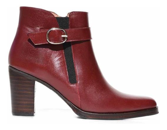 Bota Mujer Cuero Briganti Botineta Vestir Zapato Mcbo24859