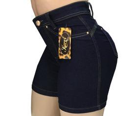 6bfed73e85 Kit 3 Short Jeans Feminino Cós Alto Meia Coxa - Liquidação