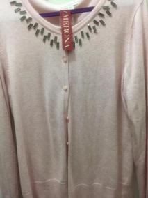 Cardigan Sweater Rosa Palido Merona Con Botones Para Mujer