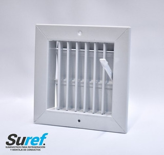 Rejilla De Ventilacion Con Regulacion 15x15 Con Palanca