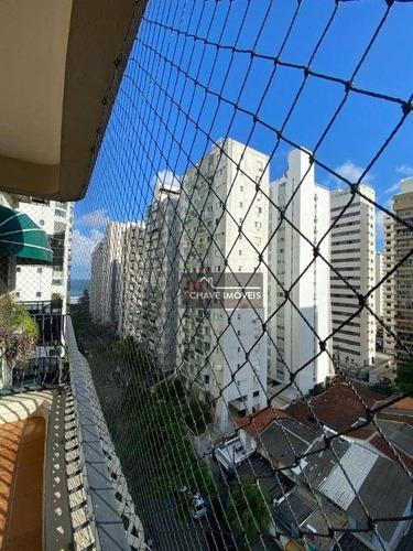 Imagem 1 de 19 de Apartamento Com 3 Dormitórios Na Quadra Da Praia, 228 M² - Venda Por R$ 470.000 Ou Aluguel Por R$ 4.000/mês - Centro - Guarujá/sp - Ap2986