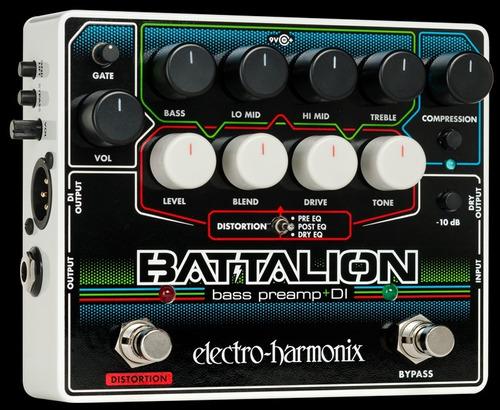 Electro-harmonix Battalion Bass Preamp Di C/ Nf-e & Garantia
