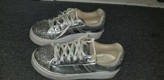 Zapatillas Plateadas