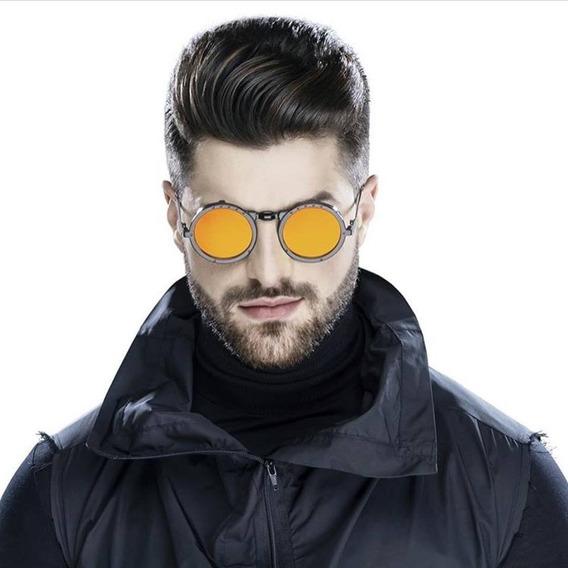 Alok Oculos Icônico 2018 - Dourado/laranjado