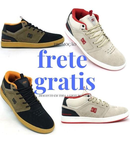 Tênis Dc Shoes Cole Signature Mid Couro Creme