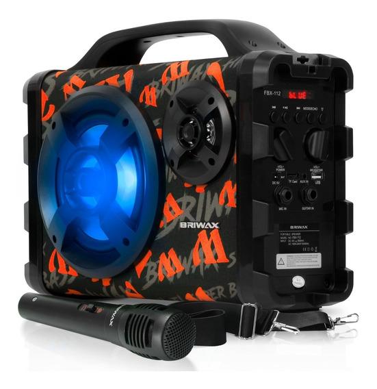Caixa Som Bluetooth Amplificada Potente Karaokê + Microfone