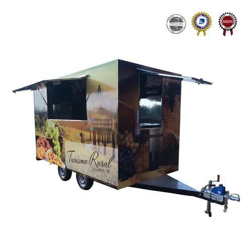 Food Truck Trailer: 4x2m  C/ Freio - 10x No Cartão Chassi
