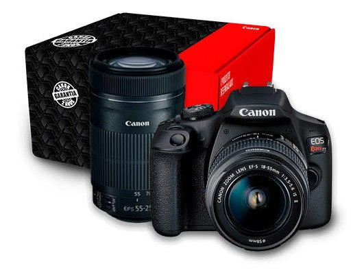 Kit Canon Eos T7 + Lente 55-250 Is Stm