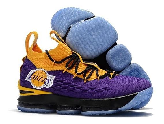 Tenis Nike Lebron 15 Lakers 34 Ao 43 Varias Cores Frete Grat