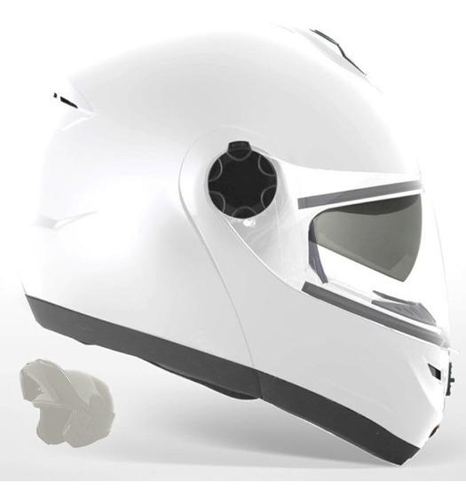 Capacete Robocop Vaz Beta Series M14 C/ Viseira Interna Fumê