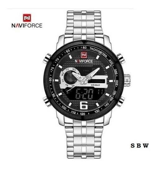 Relógio De Pulso Masculino Original Naviforce 9119