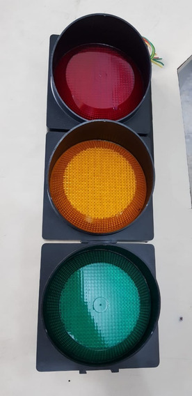 Semaforo Grande 37 Led 150mm Verde Amarelo Vermelho Incotel