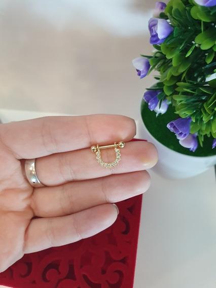 Piercing Para Orelha (concha) E Septo Banhado A Ouro Pn004