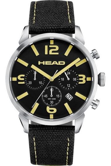 Reloj Cronógrafo Head Backhand He-006-01 Negro