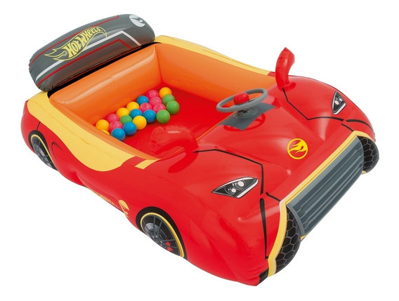 Carro Inflable Hot Wheels Con 25 Pelotas 1.35m - Bestway